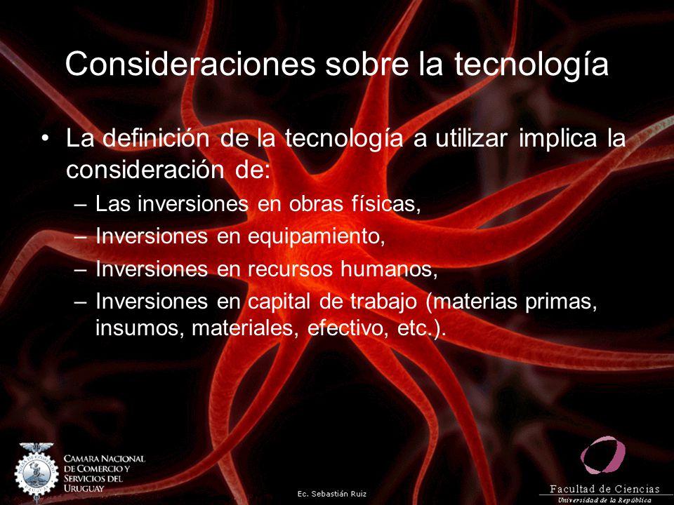 Consideraciones sobre la tecnología