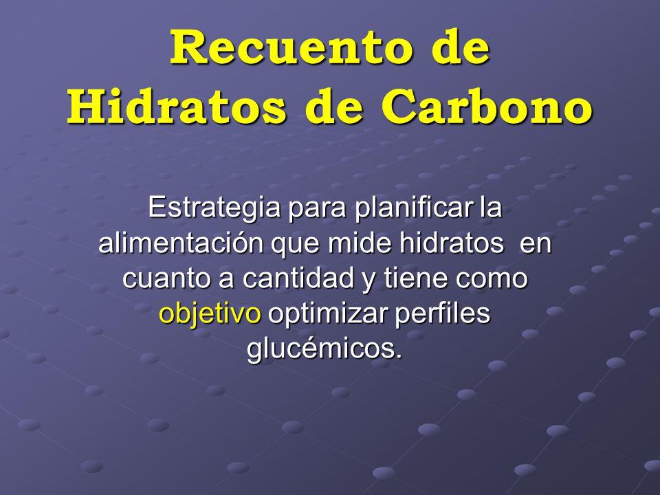 Recuento de Hidratos de Carbono