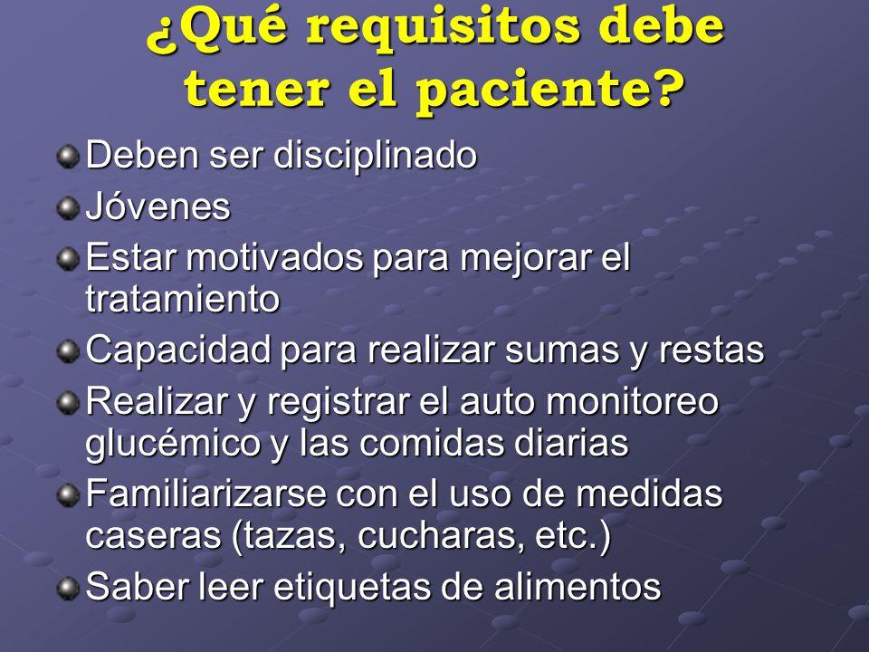 ¿Qué requisitos debe tener el paciente