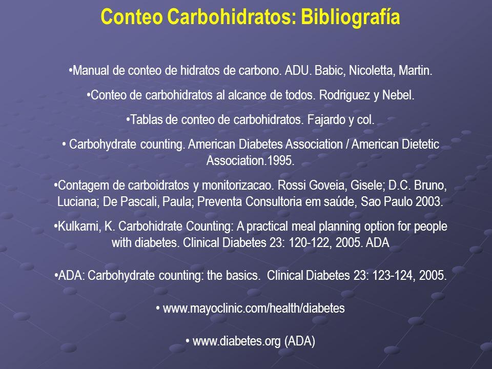 Conteo Carbohidratos: Bibliografía
