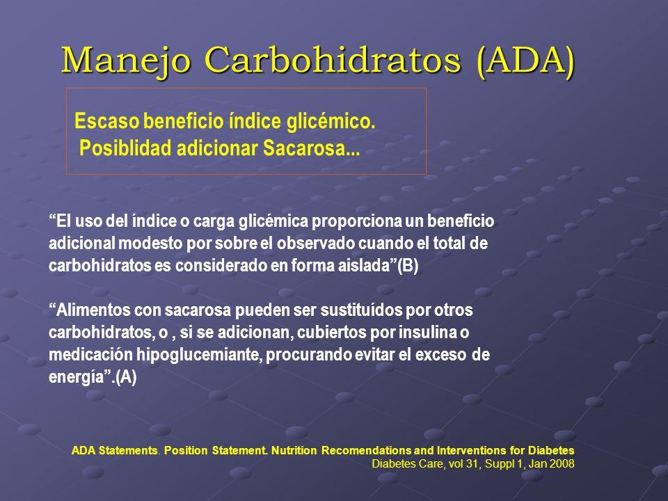 Manejo Carbohidratos (ADA)