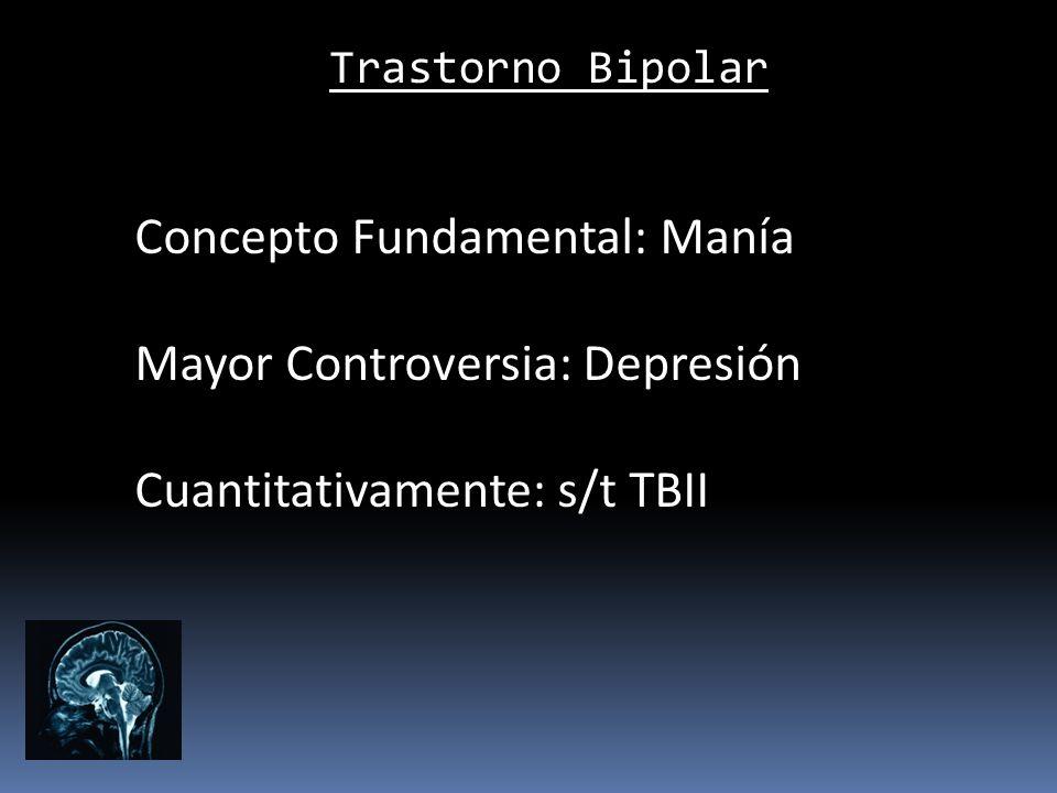 Concepto Fundamental: Manía Mayor Controversia: Depresión
