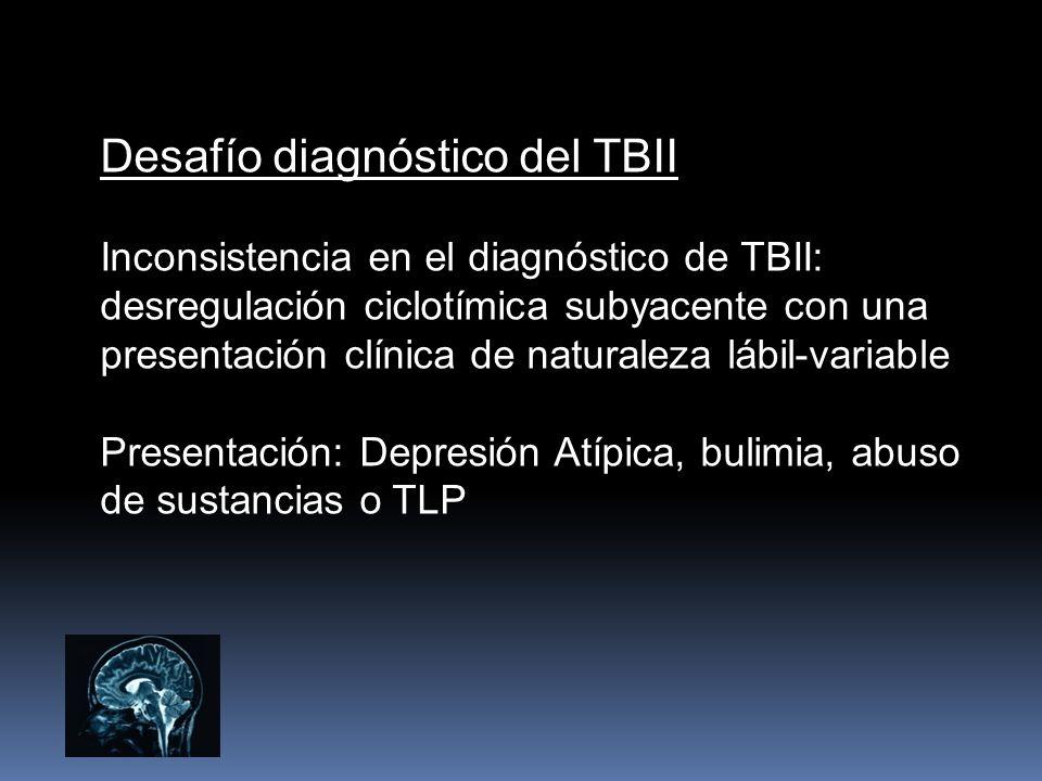Desafío diagnóstico del TBII