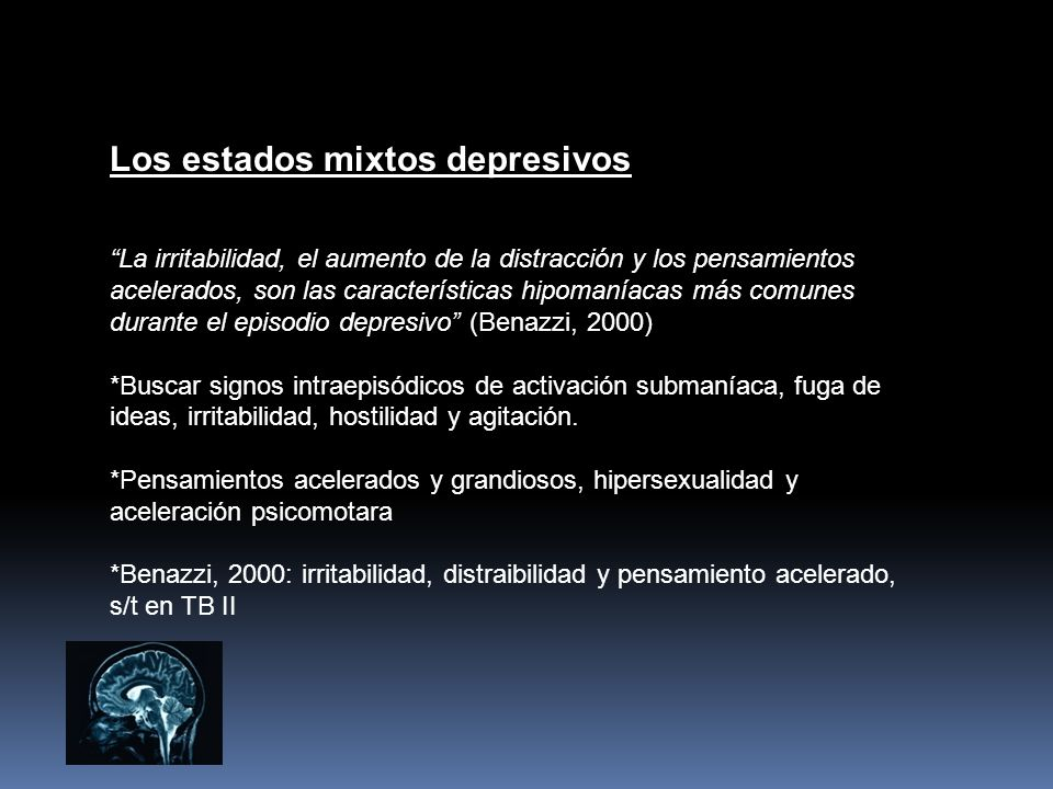 Los estados mixtos depresivos