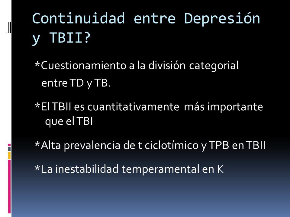 Continuidad entre Depresión y TBII