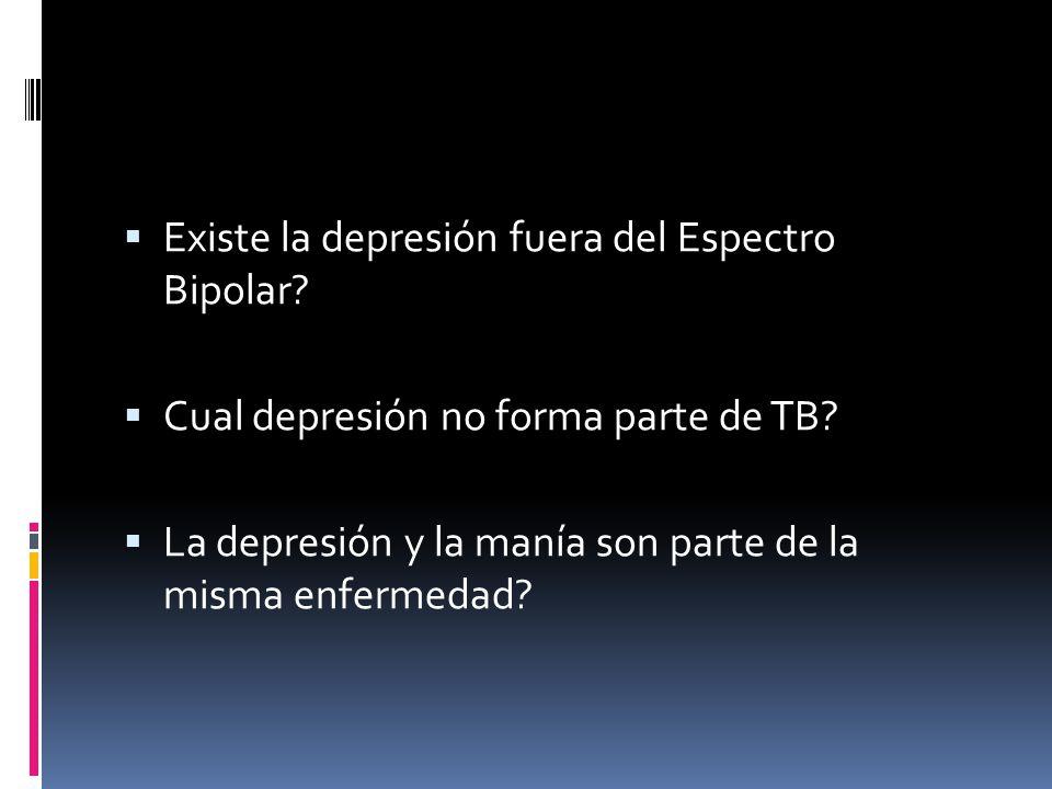 Existe la depresión fuera del Espectro Bipolar