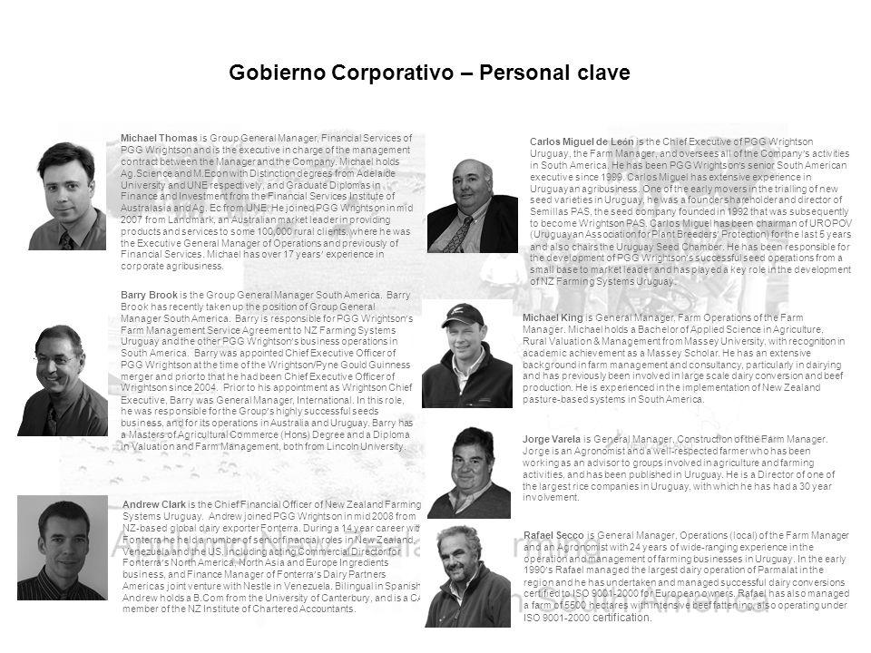 Gobierno Corporativo – Personal clave