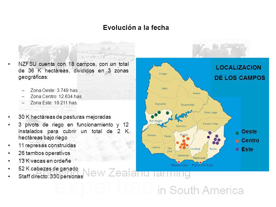 Evolución a la fecha LOCALIZACION DE LOS CAMPOS