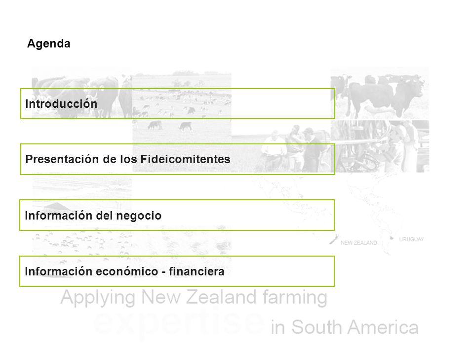 Agenda Introducción. Presentación de los Fideicomitentes.