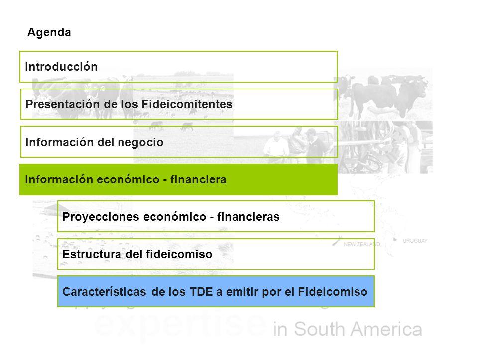 Agenda Introducción. Presentación de los Fideicomitentes. Información del negocio. Información económico - financiera.