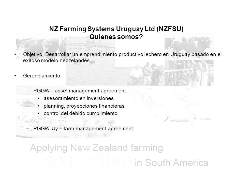 NZ Farming Systems Uruguay Ltd (NZFSU) Quienes somos