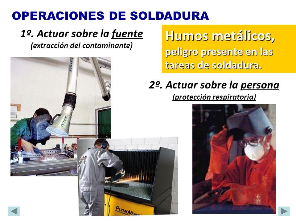 Humos metálicos, peligro presente en las tareas de soldadura.