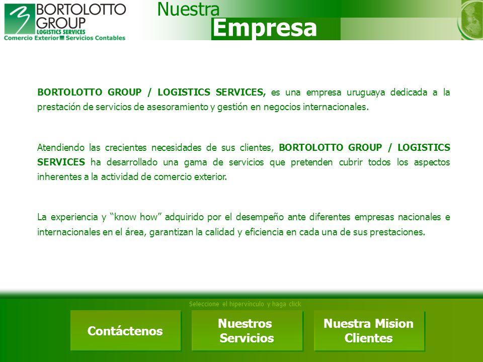 Empresa Nuestra Contáctenos Nuestros Servicios Nuestra Mision Clientes