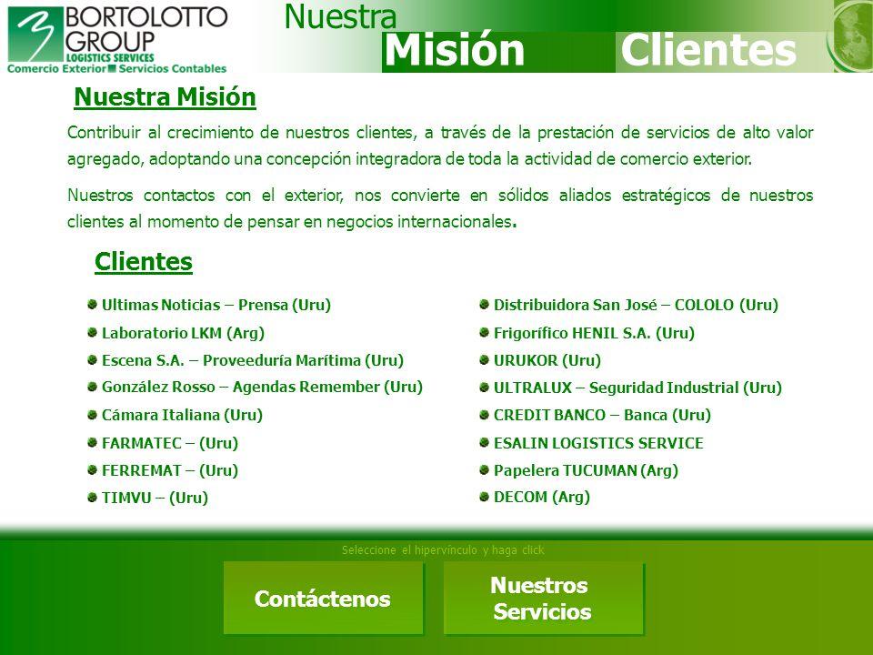 Misión Clientes Nuestra Nuestra Misión Clientes Nuestros Contáctenos