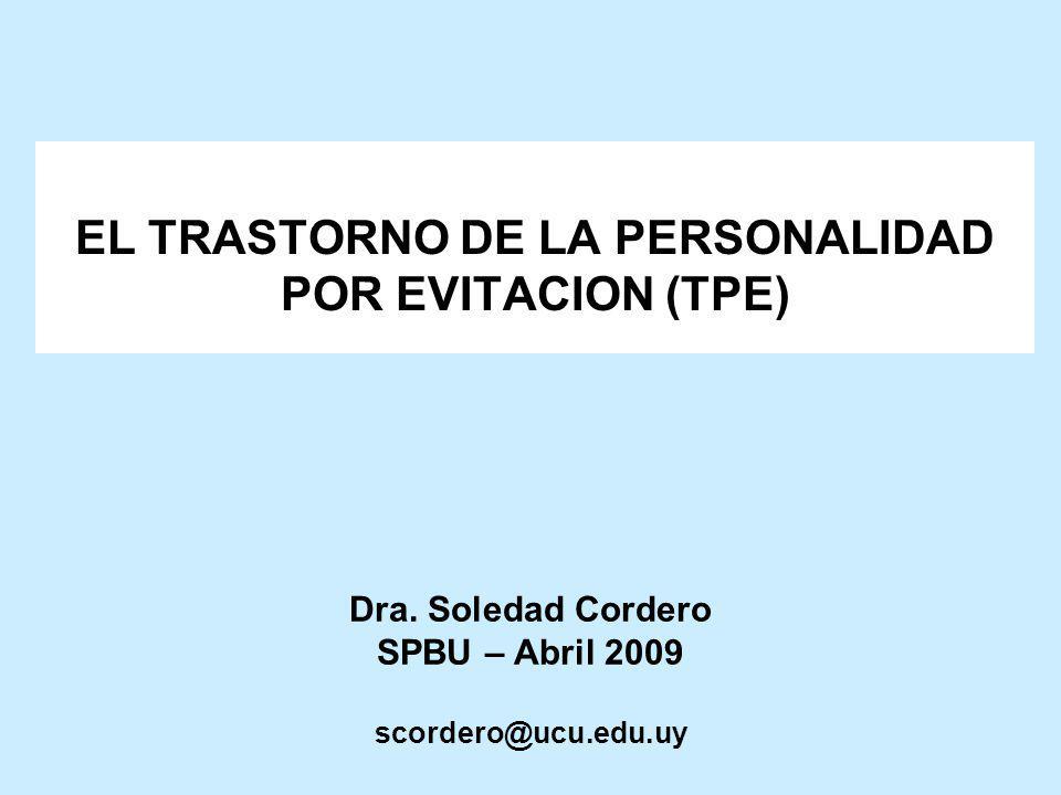 Dra. Soledad Cordero SPBU – Abril 2009 scordero@ucu.edu.uy