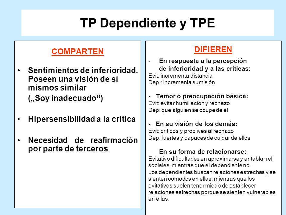 TP Dependiente y TPE COMPARTEN DIFIEREN