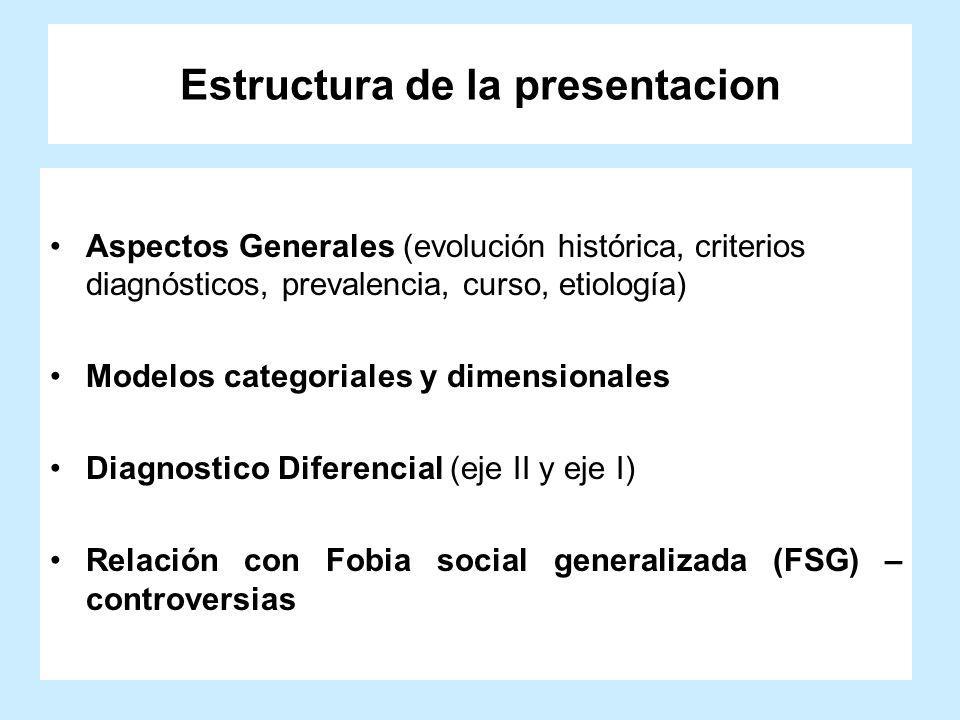 Estructura de la presentacion
