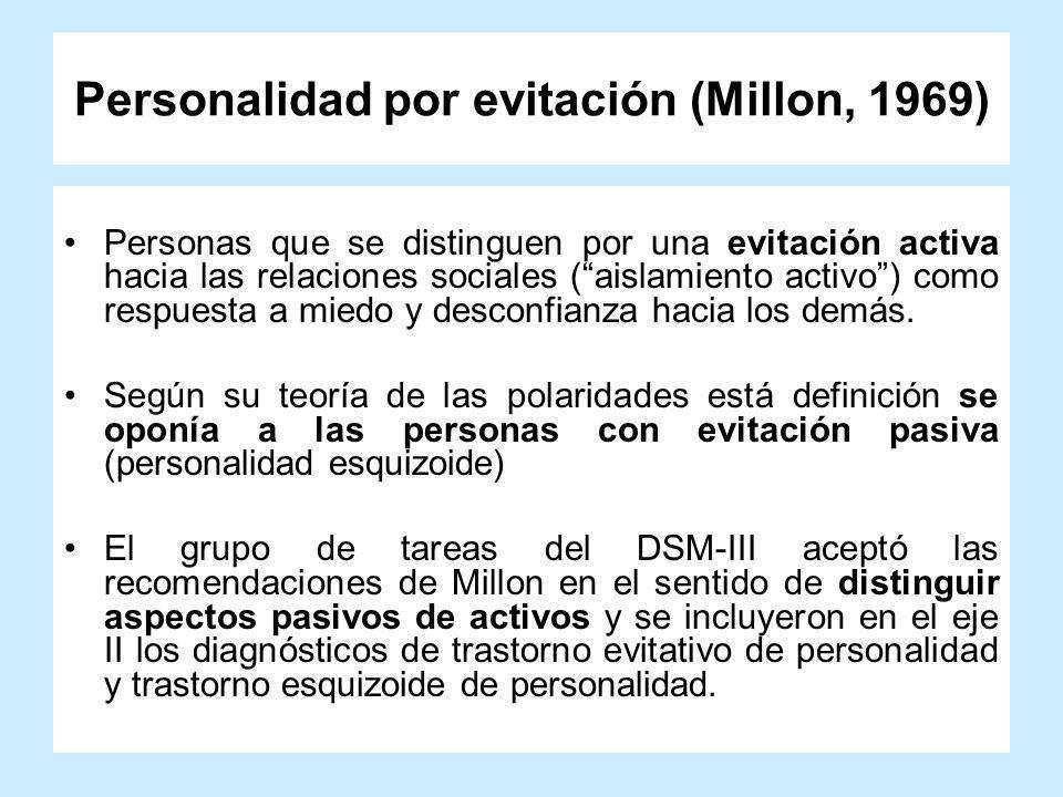 Personalidad por evitación (Millon, 1969)