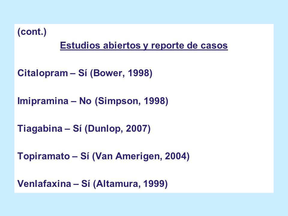 Estudios abiertos y reporte de casos
