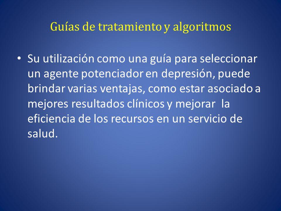 Guías de tratamiento y algoritmos
