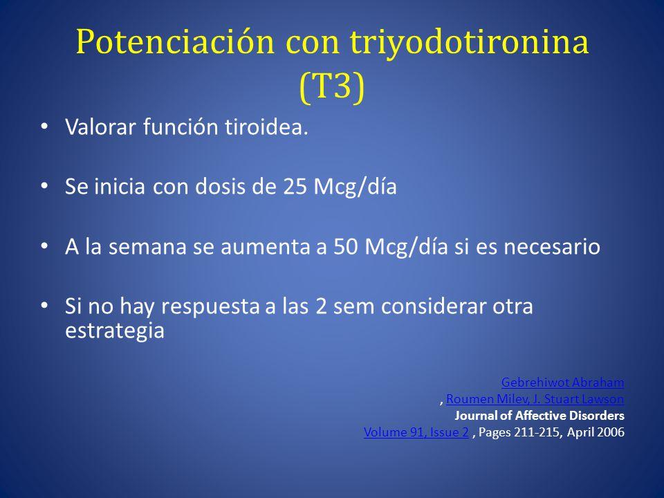 Potenciación con triyodotironina (T3)