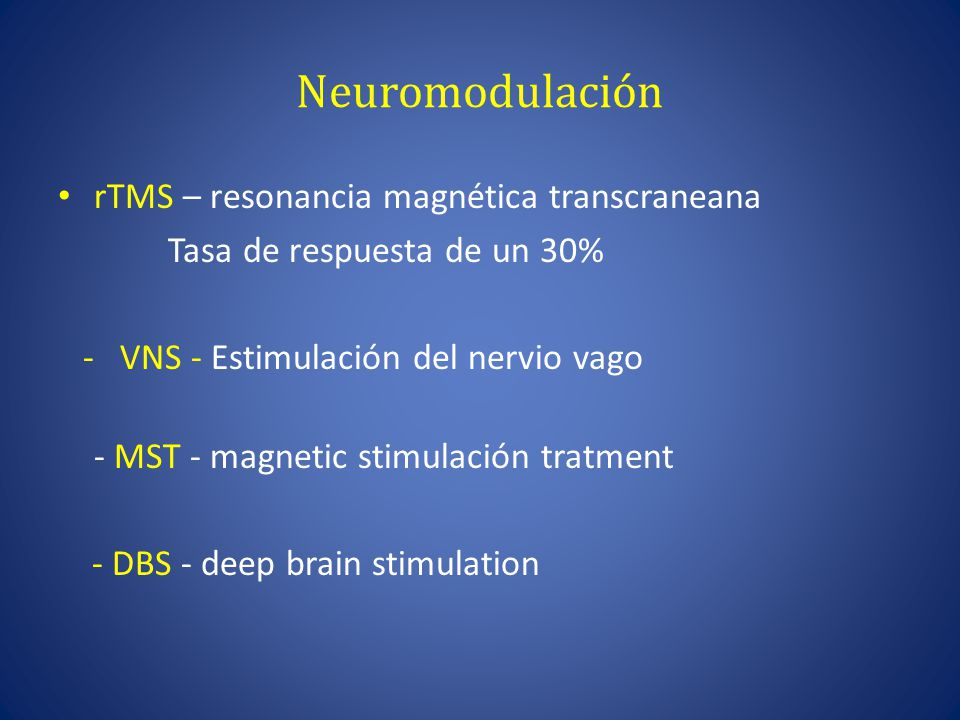 Neuromodulación rTMS – resonancia magnética transcraneana