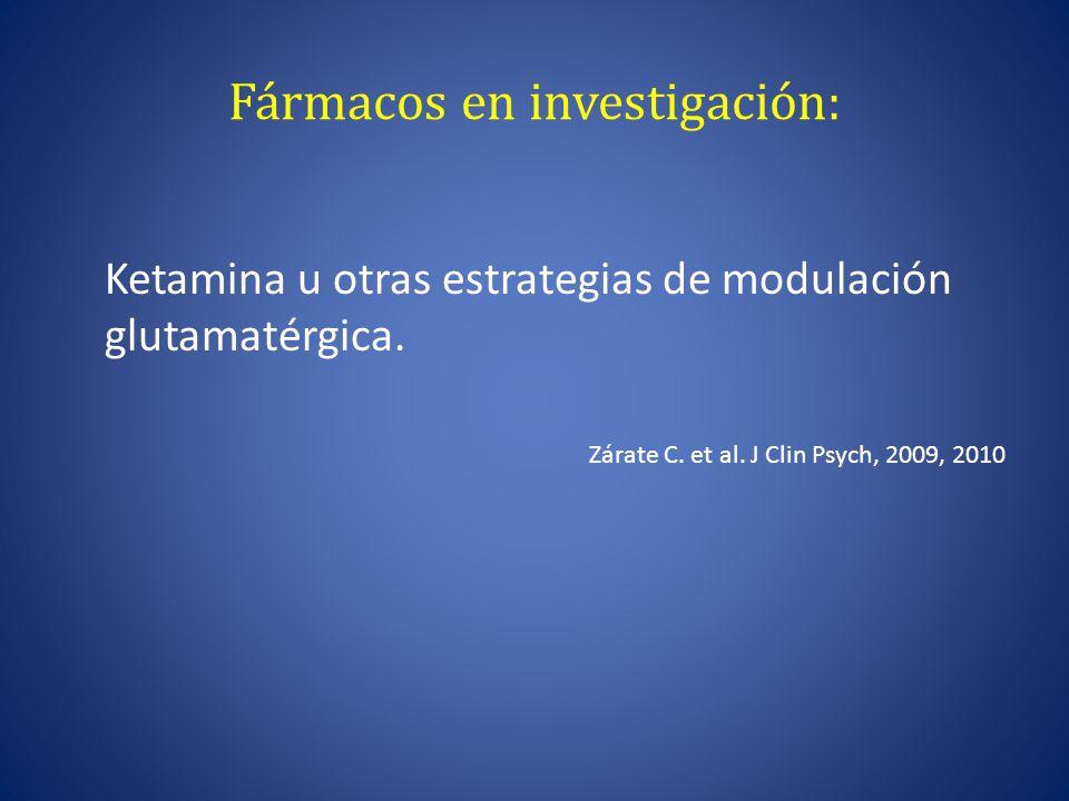 Fármacos en investigación: