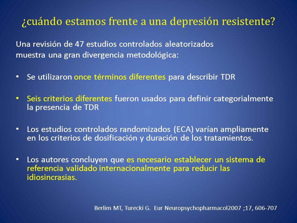 ¿cuándo estamos frente a una depresión resistente
