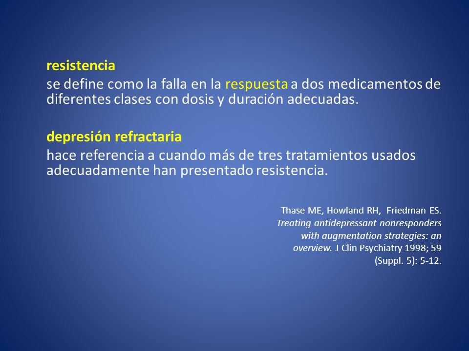 depresión refractaria