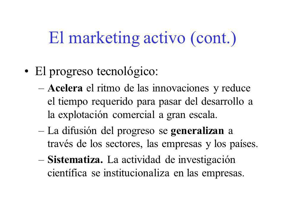 El marketing activo (cont.)