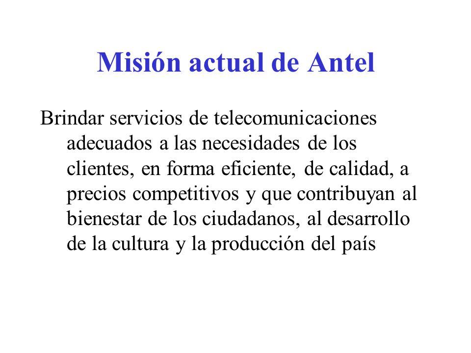 Misión actual de Antel