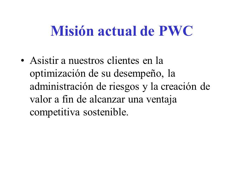 Misión actual de PWC