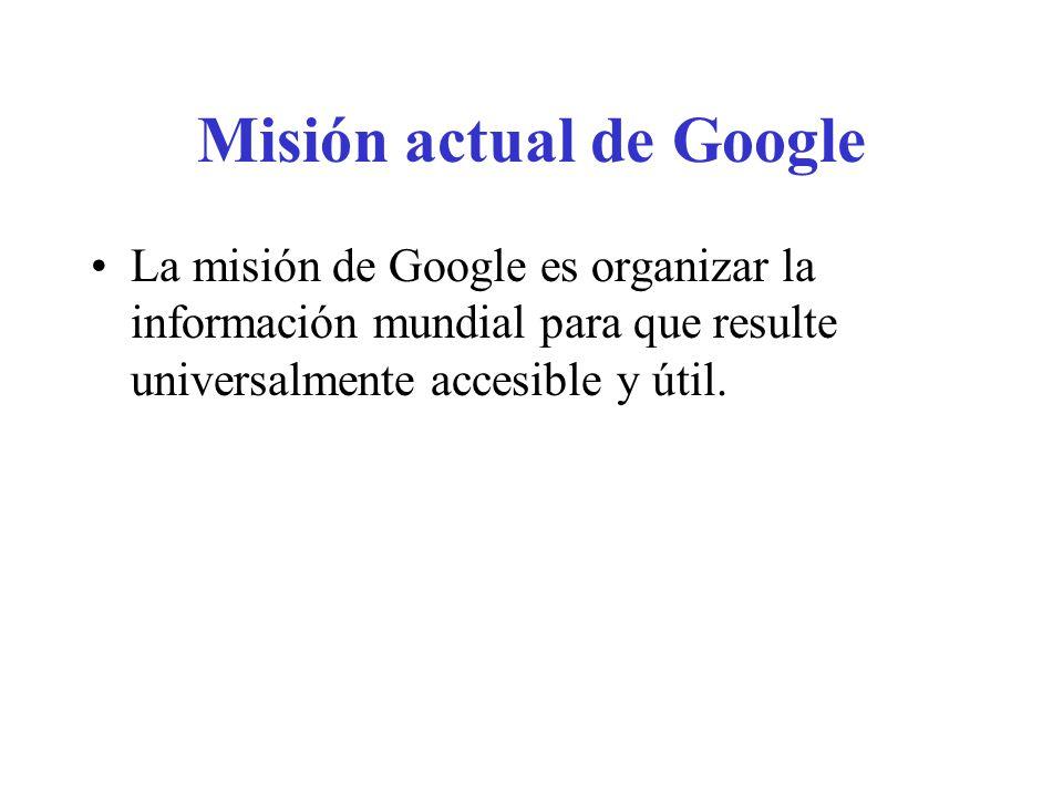 Misión actual de Google