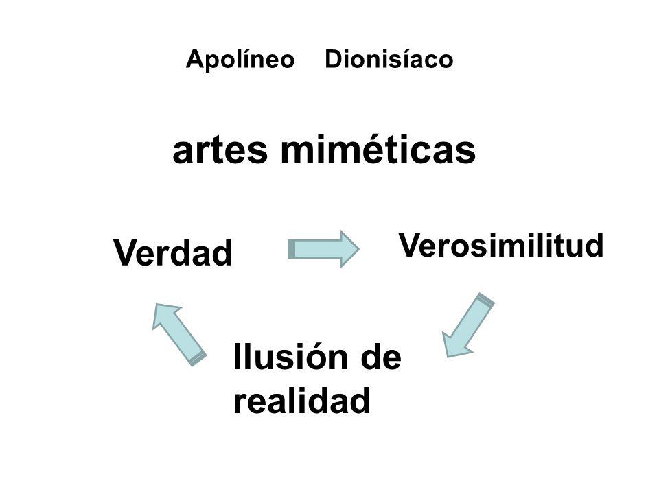 artes miméticas Verdad Ilusión de realidad Verosimilitud