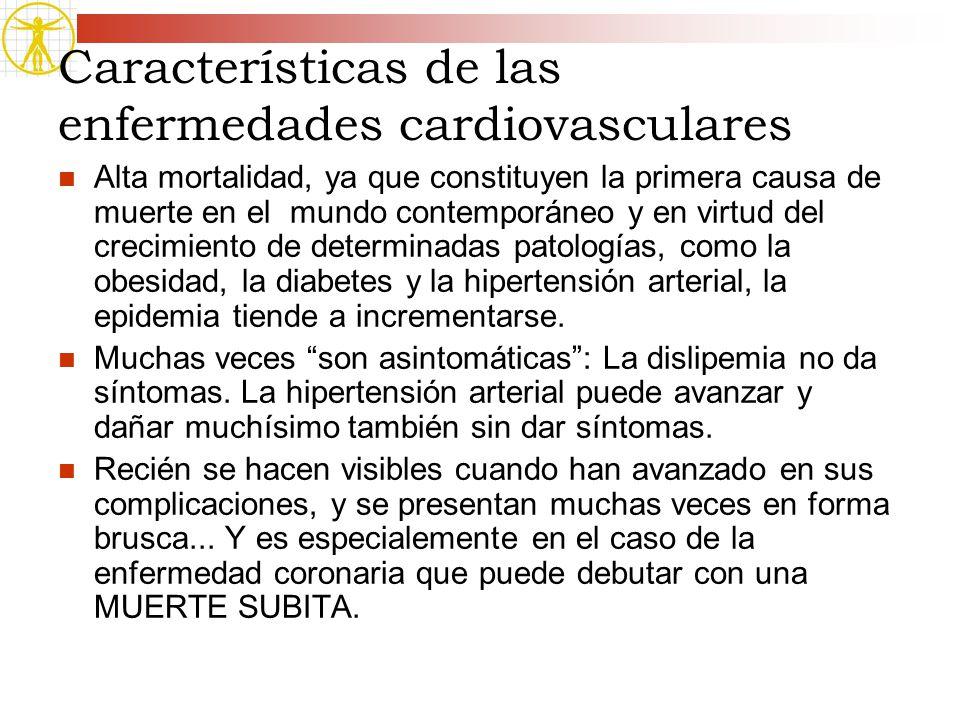 Características de las enfermedades cardiovasculares