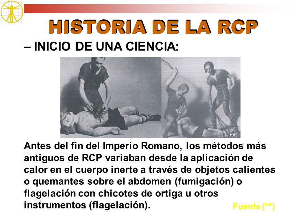 HISTORIA DE LA RCP – INICIO DE UNA CIENCIA: