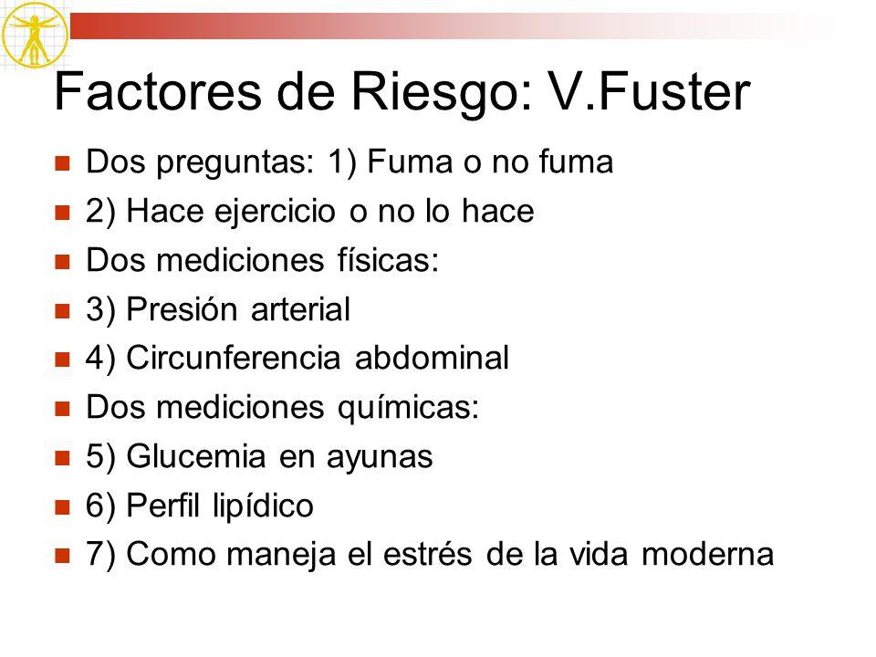 Factores de Riesgo: V.Fuster