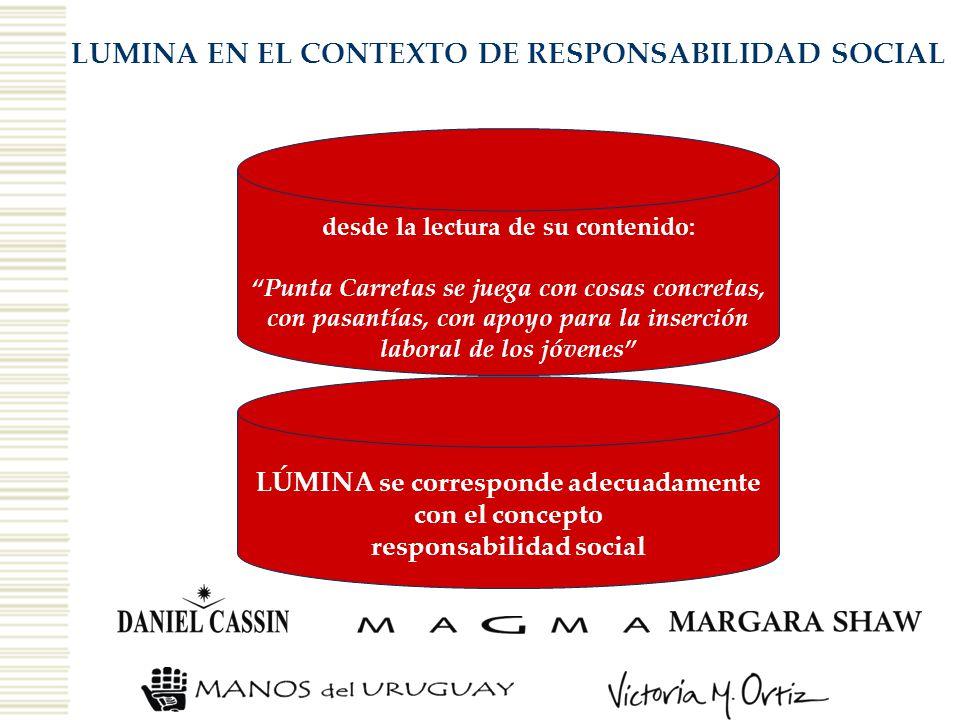 LUMINA EN EL CONTEXTO DE RESPONSABILIDAD SOCIAL