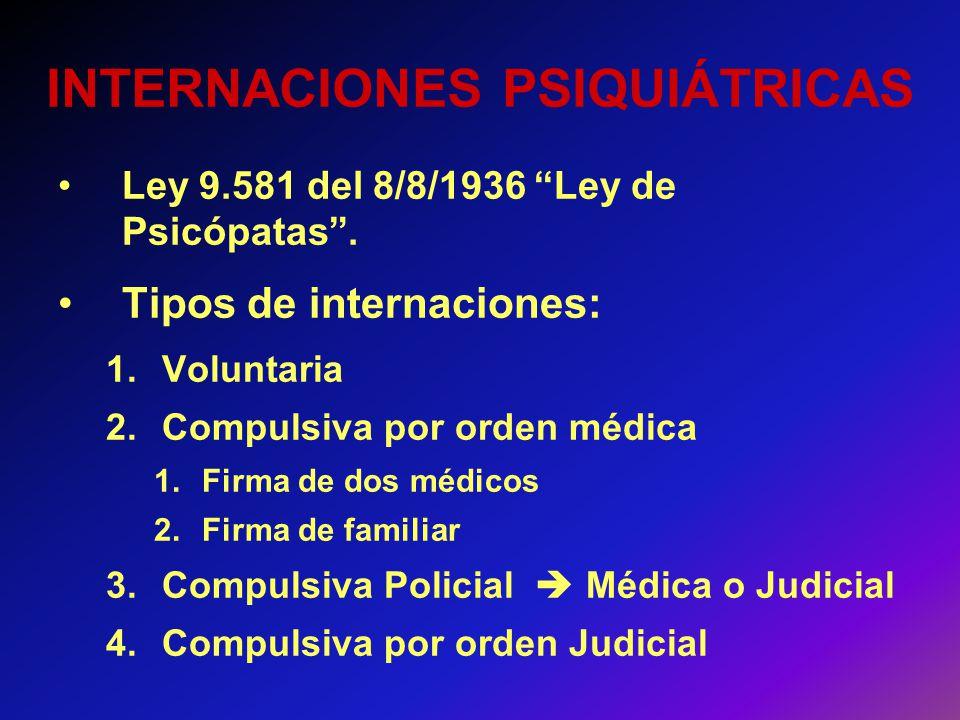 INTERNACIONES PSIQUIÁTRICAS