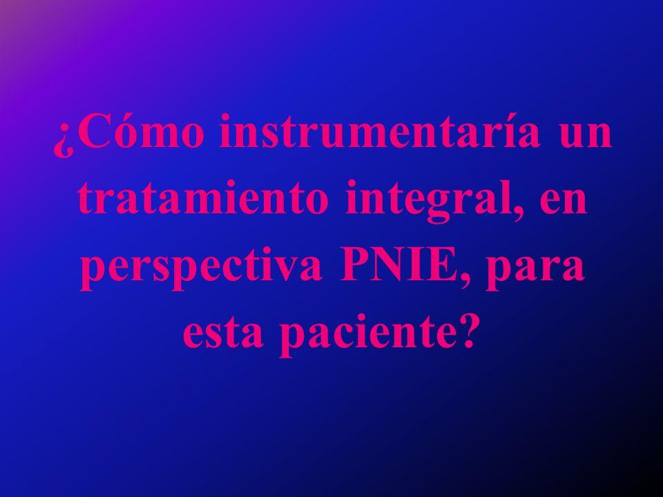 ¿Cómo instrumentaría un tratamiento integral, en perspectiva PNIE, para esta paciente