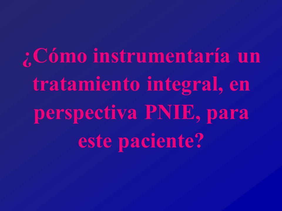¿Cómo instrumentaría un tratamiento integral, en perspectiva PNIE, para este paciente
