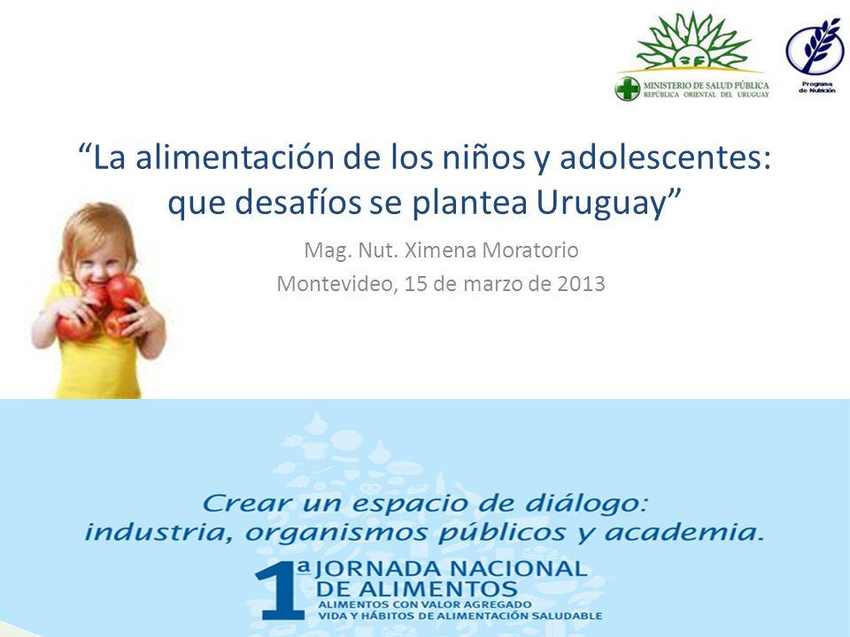 Mag. Nut. Ximena Moratorio Montevideo, 15 de marzo de 2013