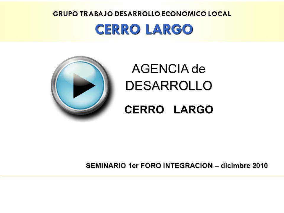 CERRO LARGO AGENCIA de DESARROLLO CERRO LARGO