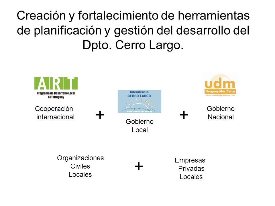 Creación y fortalecimiento de herramientas de planificación y gestión del desarrollo del Dpto. Cerro Largo.