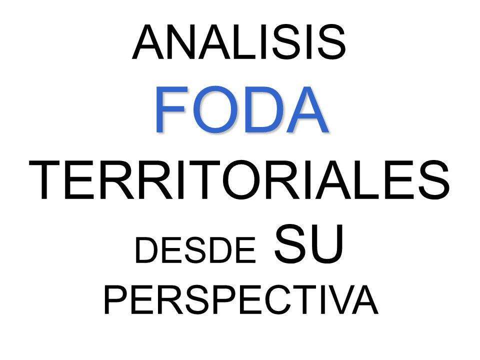 ANALISIS FODA TERRITORIALES DESDE SU PERSPECTIVA