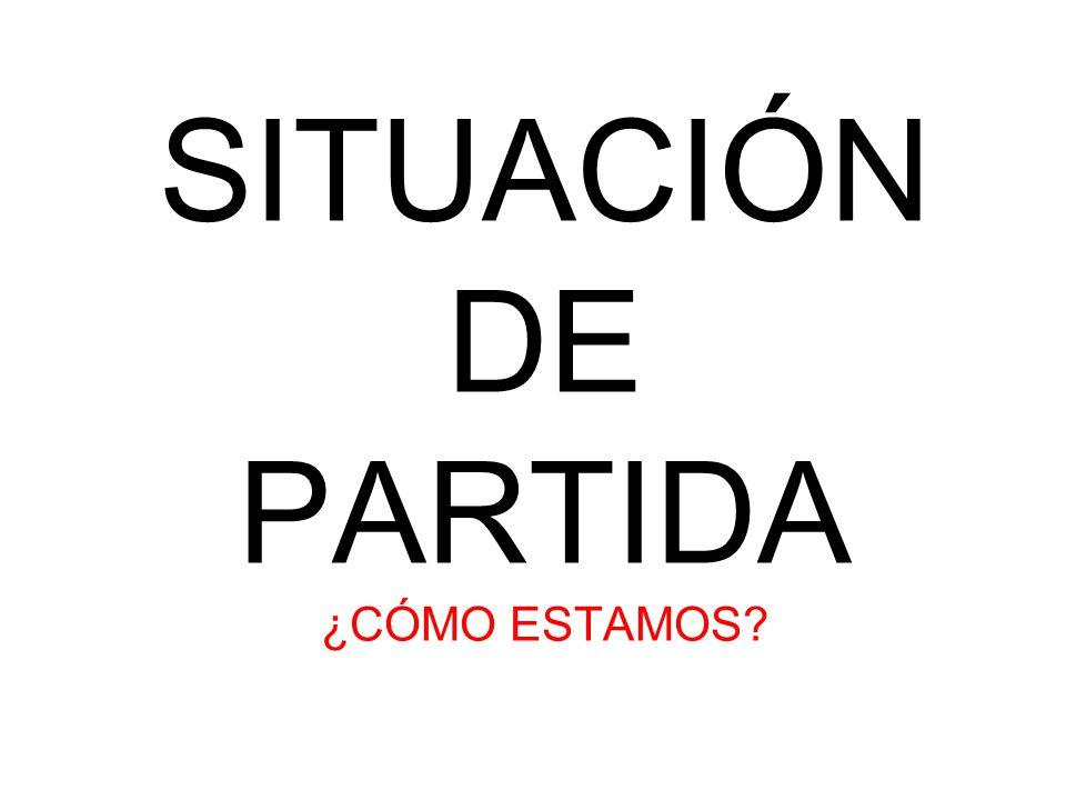 SITUACIÓN DE PARTIDA ¿CÓMO ESTAMOS