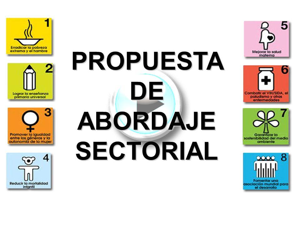 PROPUESTA DE ABORDAJE SECTORIAL
