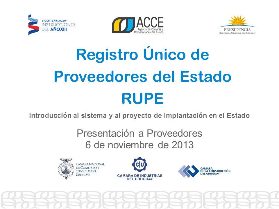 Registro Único de Proveedores del Estado RUPE