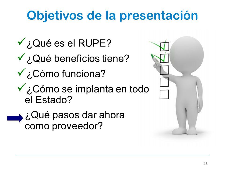 Objetivos de la presentación