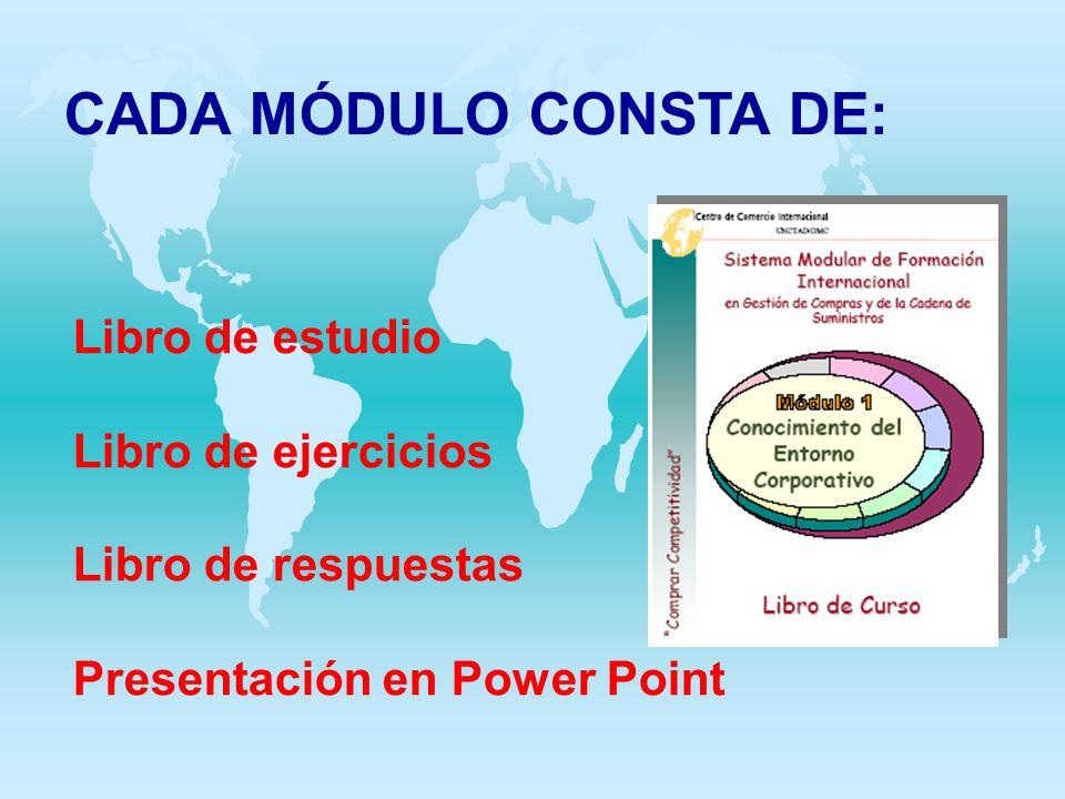 CADA MÓDULO CONSTA DE: Libro de estudio Libro de ejercicios